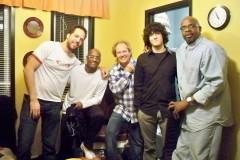 with Lee Ritenour, Melvin Davis, Sonny Emory, Jesse Milliner, in Peter's Players,Gravenhurst Ontario